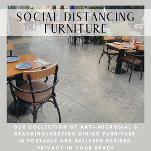 Social Distancing Furniture is Portable, Anti-Microbial, and Provides Privacy