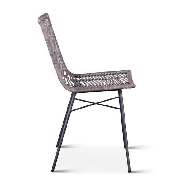 MAKANI Natural Woven Rattan Side Chair