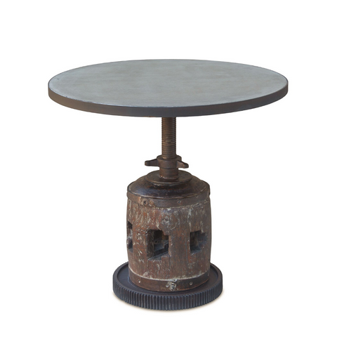 FIRKIN Rustic Round Adjustable Table