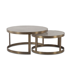 BIAGGIO Marble Nesting Conversation Tables