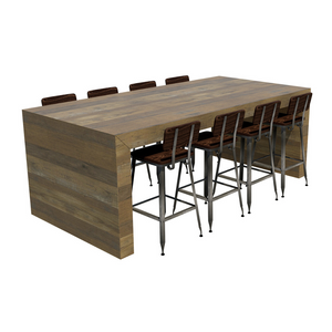 TOMORI Communal Bar Table w/ Optional Power Charging Integration