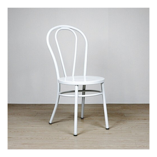 ALOUETTE metal bentwood dining chair in our impeccable white finish.