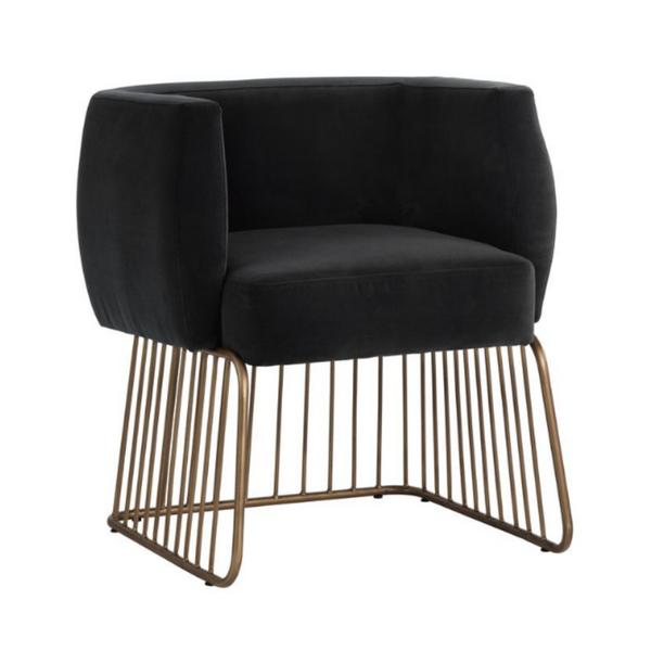 CASTELLA Mid-Century Modern Wire Lounge Chair