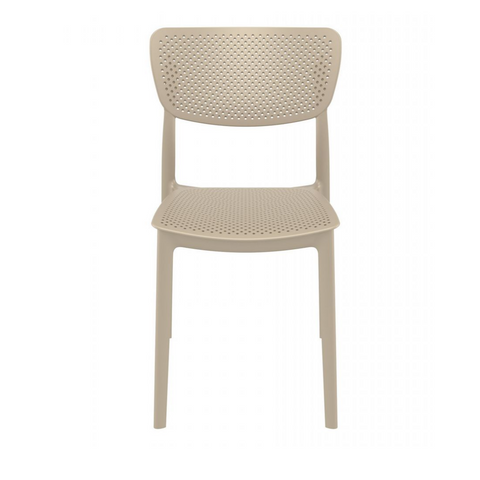 EKO Stackable All Weather Indoor Outdoor Dining Side Chair