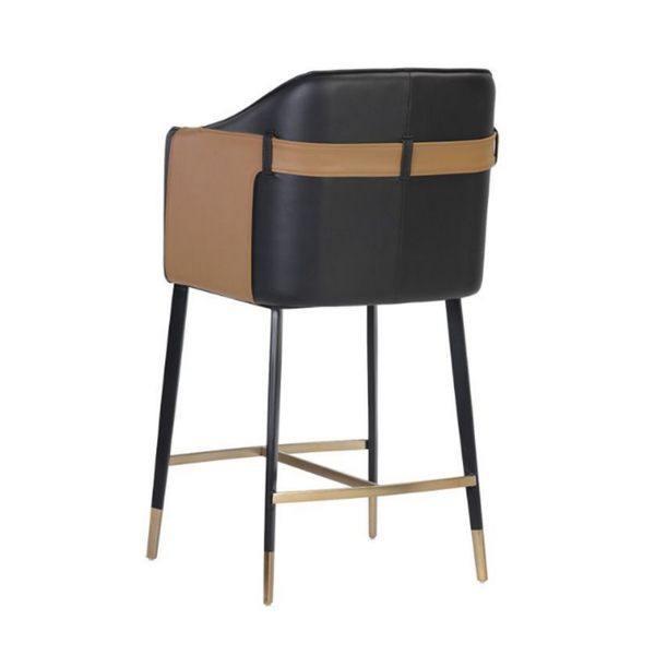 GIRARD Leather Satchel Bar and Counter Stools