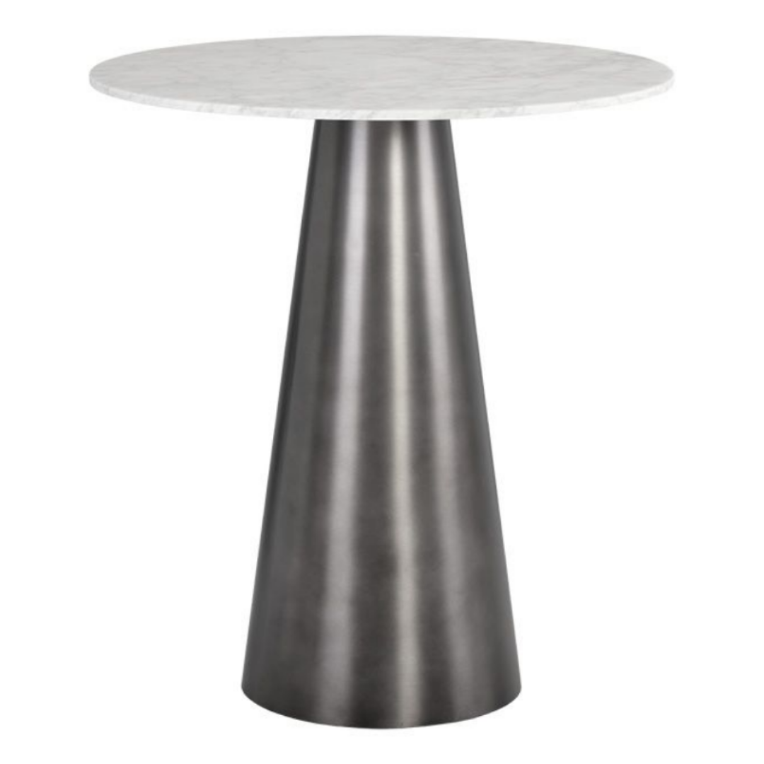 GITANO Carrara Marble Hospitality Bar Height Table