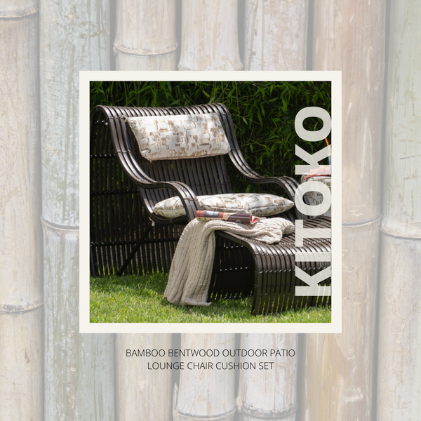 KITOKO Bamboo Bentwood Outdoor Patio Lounge Chair - Petite