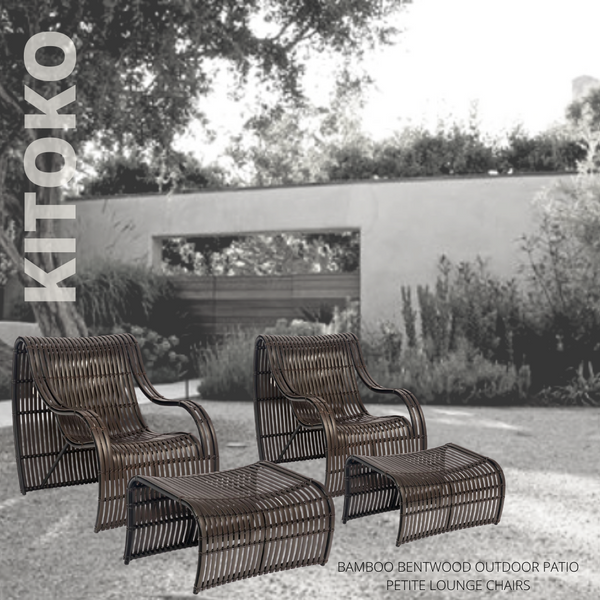 KITOKO Bamboo Bentwood Outdoor Patio Foot Rest
