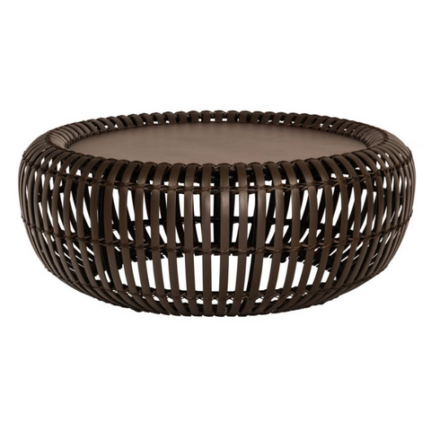 KITOKO Bamboo Bentwood Outdoor Patio Round Coffee Table