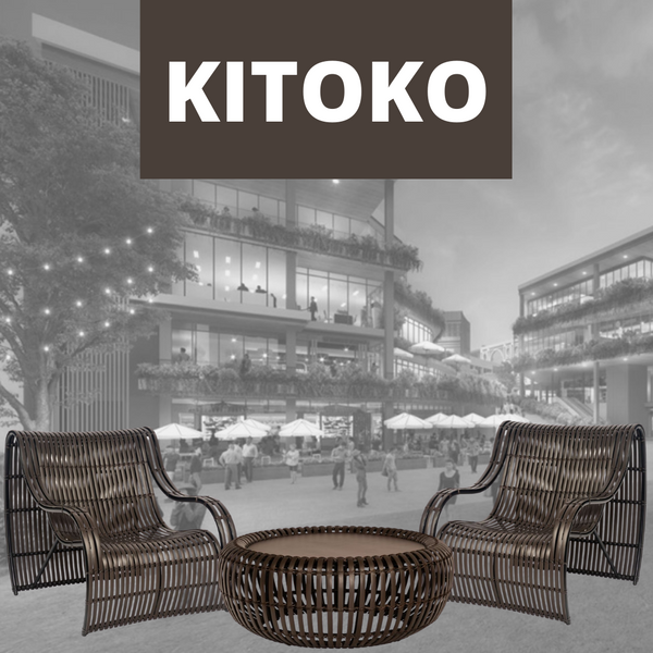KITOKO Bamboo Bentwood Outdoor Patio Lounge Chair - Grande