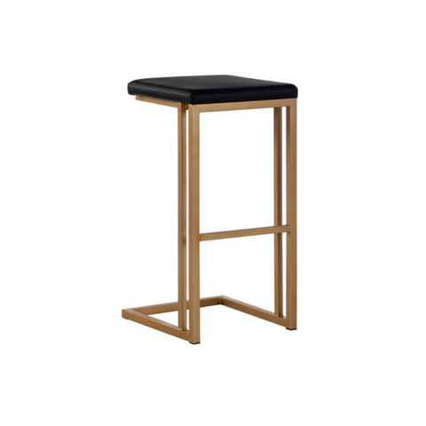LARKIN Modern C-Frame Backless Stools
