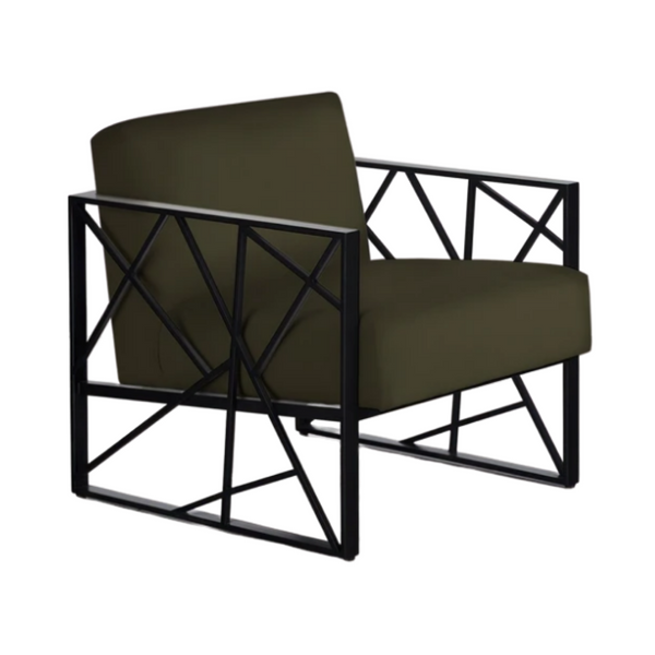 LUVIUS Modern Angular Lounge Chair