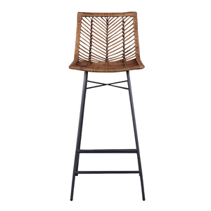 MAKANI Natural Woven Rattan Bar Stool
