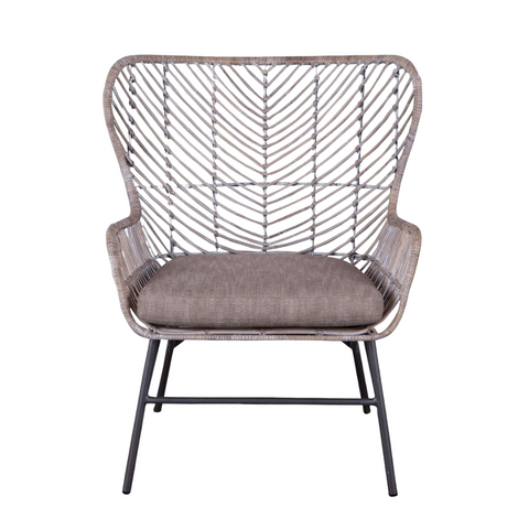 MAKANI Natural Woven Rattan Lounge Chair