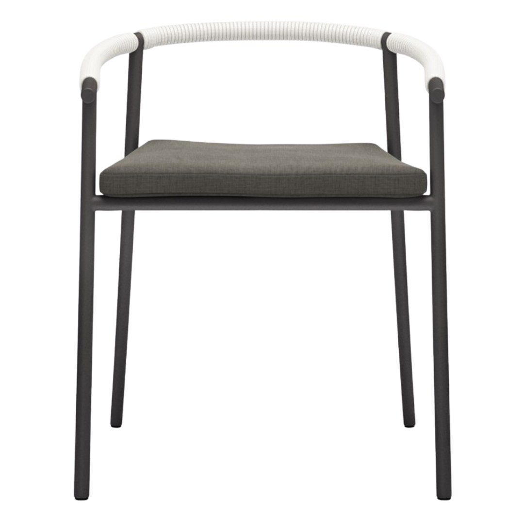 PRESELI Barrel Back Aluminum Patio Dining Chair