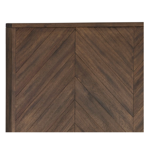SANTUCCI Chevron Wood Plank Bed