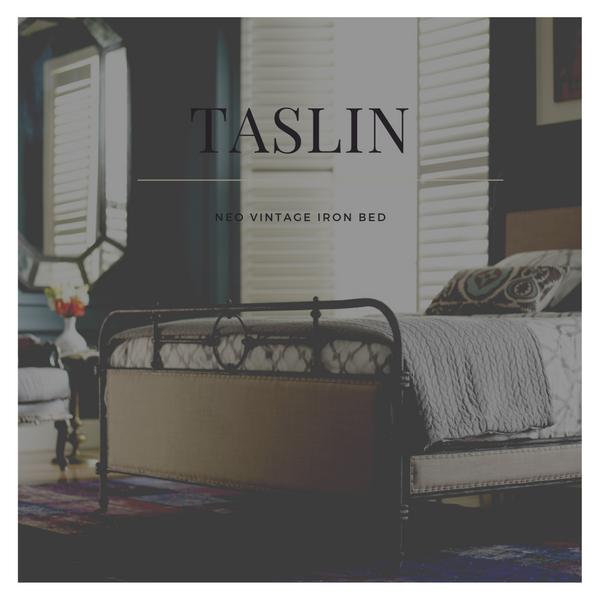 TASLIN Neo Vintage Wrought Iron Bed