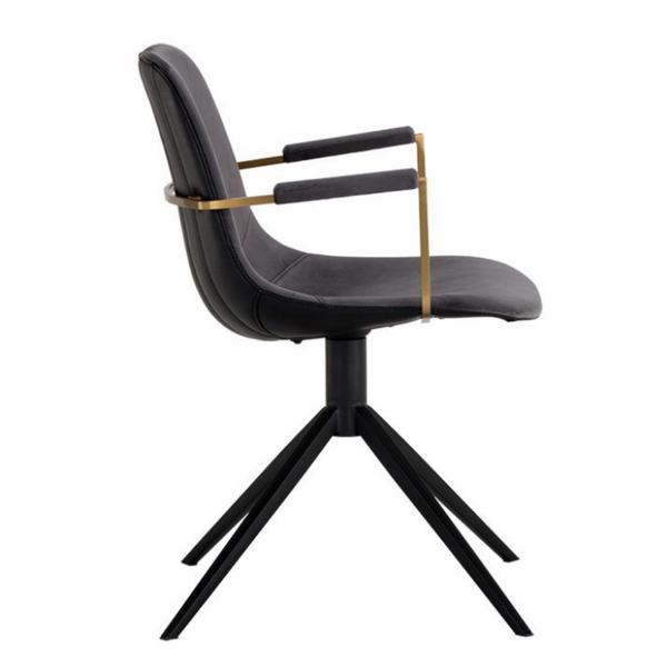 TYNER Luxury Swivel Desk Chair with Arms