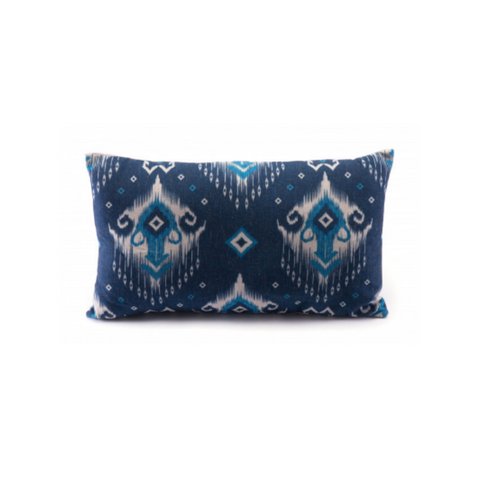ZIA Ikat Blue Lumbar Pillow