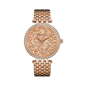Caravelle By Bulova Women's Quartz Watch Rose Gold 44L236