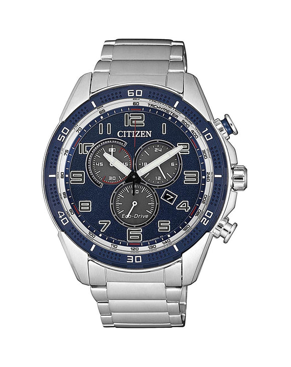 Citizen AR Chronograph Eco-Drive Blue Dial Men's Watch AT2440-51L