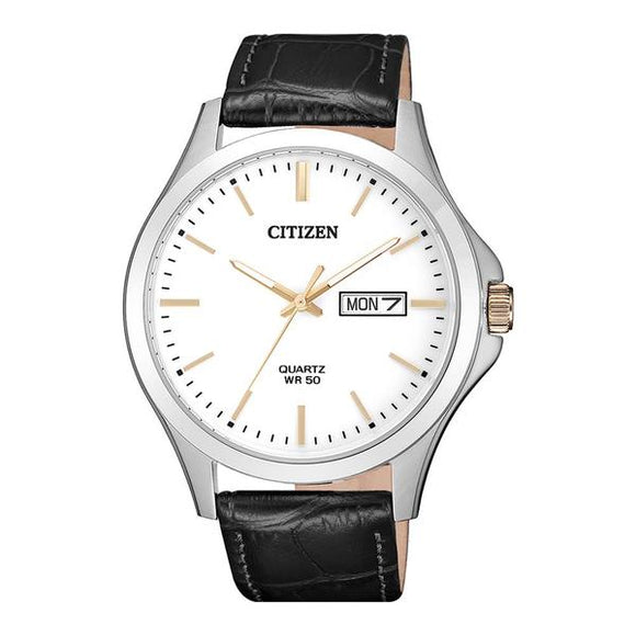 Citizen Black Leather Strap Men's Watch - BF2009-11A