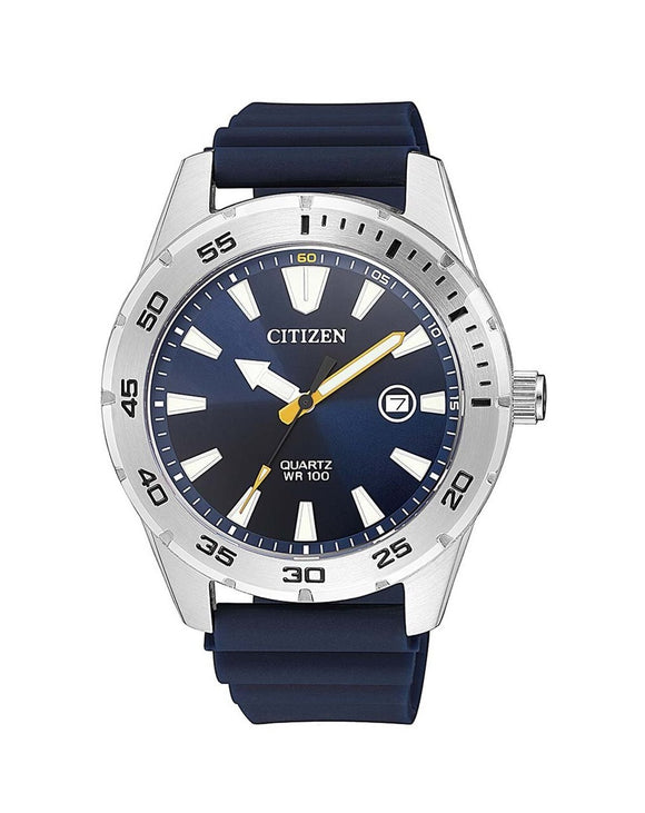 Citizen BI1041-22L Blue Rubber Mens Watch