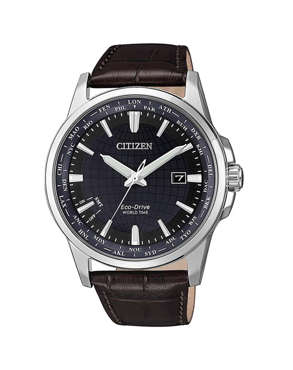 Citizen Perpetual Calendar BX1001-11L Men's Leather Watch
