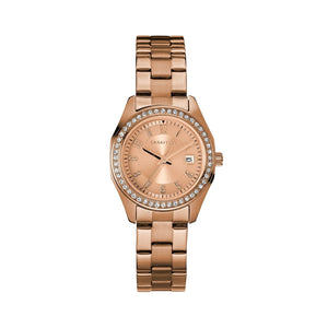 Caravelle by Bulova Women's 44M114 Rosegold Stainless Crystal Acccent Bracelet Watch
