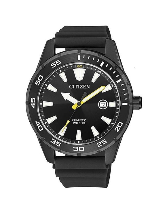 Citizen BI1045-13E Black Rubber Mens Quartz Watch