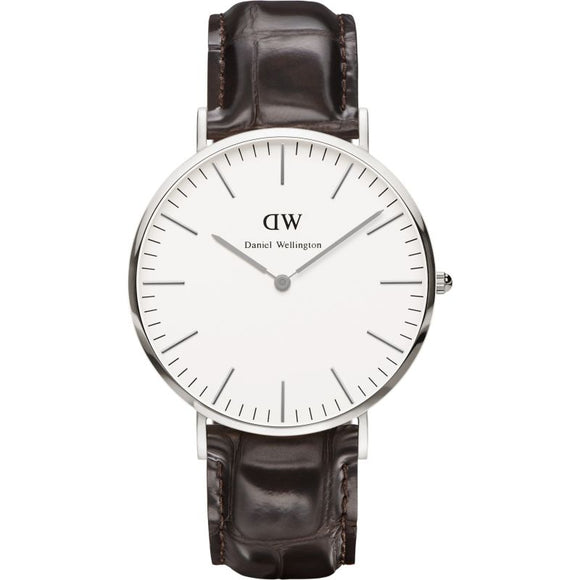 Men's Daniel Wellington York Silver 40mm Watch DW00100025
