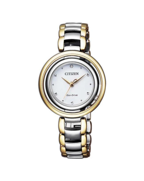 Citizen EM0664-84A Ladies Eco-Drive Diamond Watch