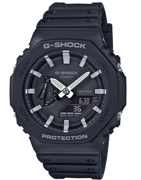 Casio G-Shock GA-2100-1A Carbon Core Guard Watch Black/White