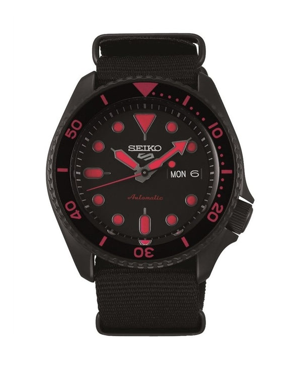 Seiko 5 SRPD83K Automatic Black Nato Mens Watch