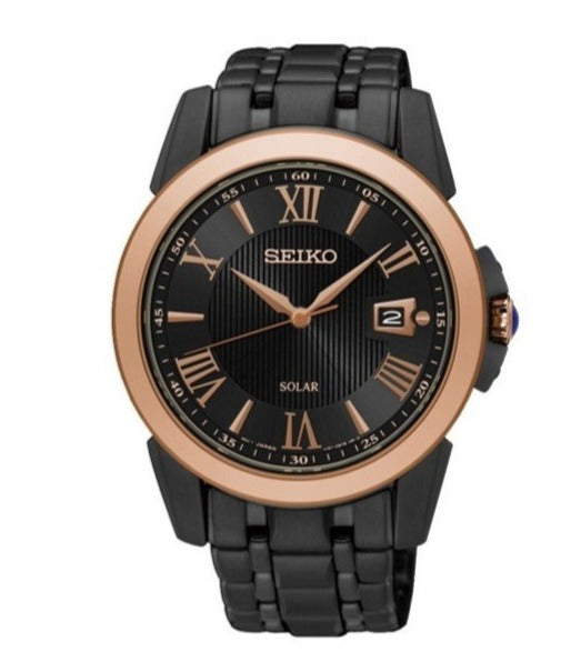 Seiko Le Grand Sport SNE470P Black Rose Gold Steel