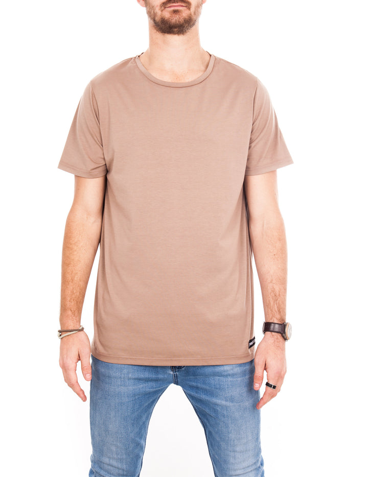 Crew Tee - Light Brown