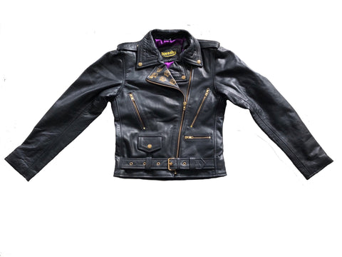 Women James Dean Biker Leather