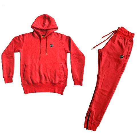 Road Man Hoodie Sweatsuit PAC Red