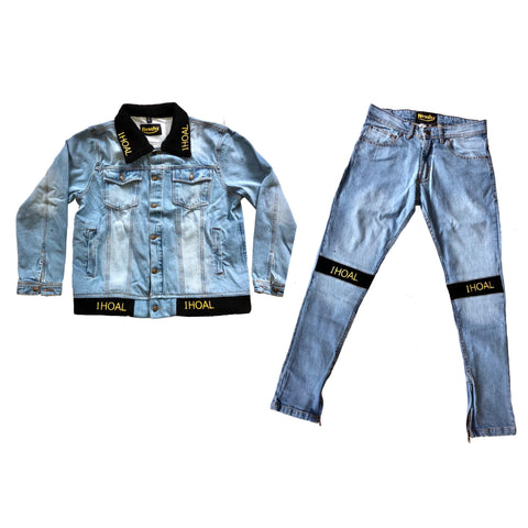 1HOAL denim jacket suit
