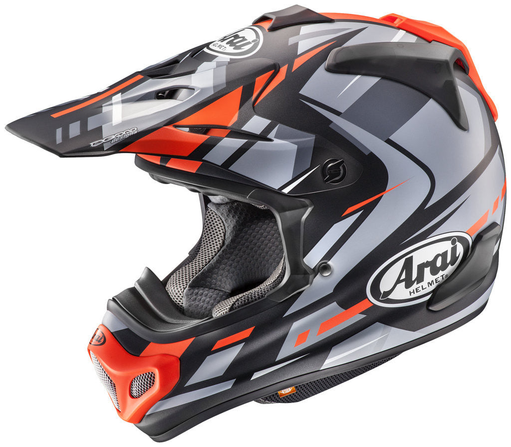 CASCO ARAI MX-V BOGLE RED