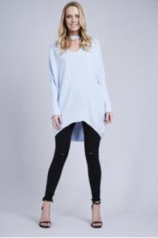 Choker Baggy Long Sleeve Top