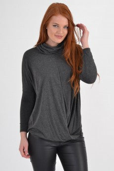Cowl-Neck Knot Front