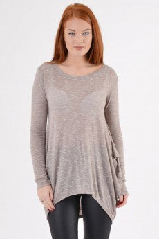 Fine Knit Ruched back top