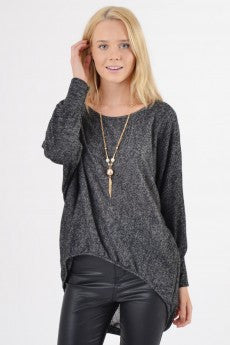High-Low Speckled Top