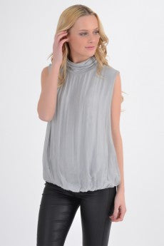 High neck Silk top