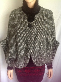 Cropped wool bolero jacket