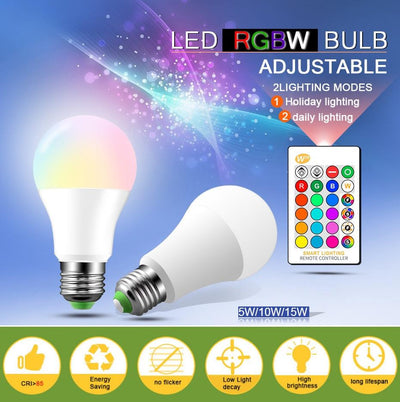 LE Color Changing Light Bulb with Remote - 5 Hour 500,000 Customer Celebration