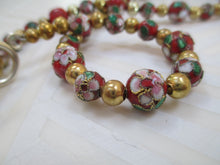 Load image into Gallery viewer, Red Elegance: A Rich In Cloisonné Necklace From Gemstrings From Phyllis & Terry | Value: $60