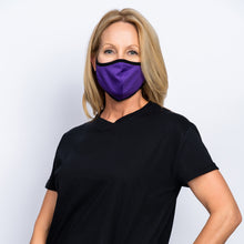 Load image into Gallery viewer, 10 Pack Adult Purple Masks