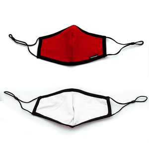 10 Pack Adult Red Masks